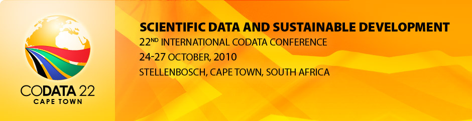 22nd CODATA International Conference 2010